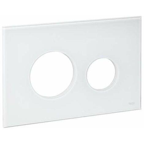 TECE Blende für TECEloop WC-Betätigungsplatte, Glas weiß 9240671