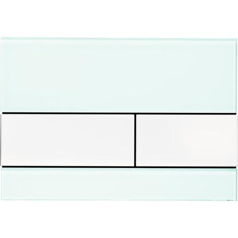 TECE WC plaque de poussée TECEsquare verre noir, pour la technologie à double chasse d'eau, Coloris: Clés noires - 9240809
