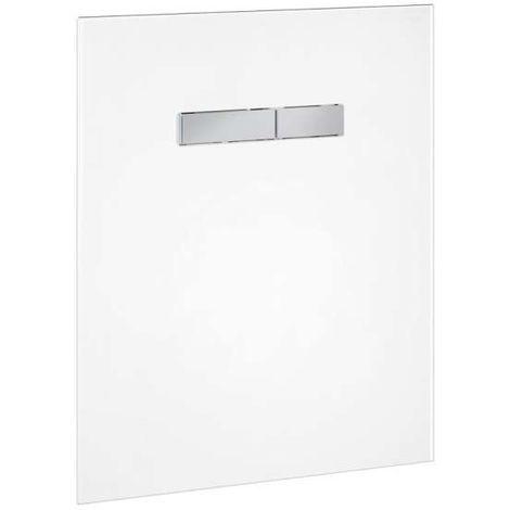 TECElux Betätigungsglasplatte manuell Glas weiß, Tasten Chrom glänzend 9650001