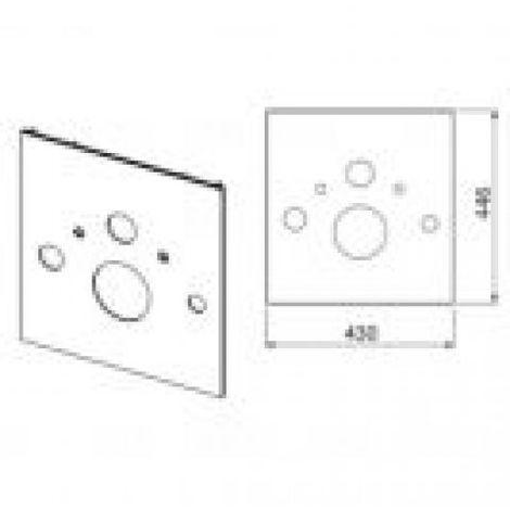 TECElux Placa de vidrio para WC con ducha WC, cumplimiento: Vidrio blanco - 9650101