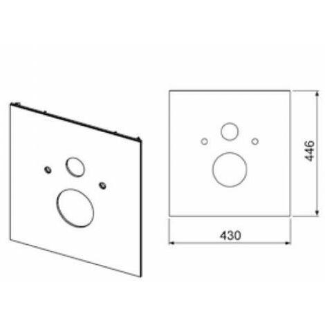 Placa de vidrio para WC TECElux para WC estándar, cumplimiento: Vidrio negro - 9650105