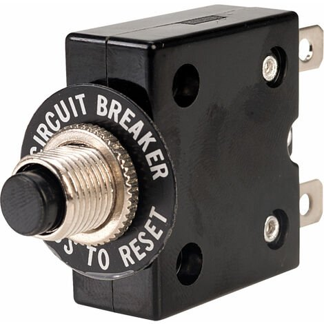 """main image of """"Techna T1610 Panel Mount Circuit Breaker 10A with Quick Connect Tabs"""""""