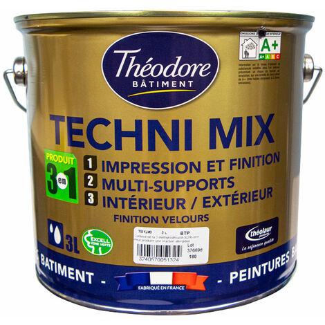 Technimix peinture polyvalente 3 en 1 : multisupports, sous-couche et finition, isolante