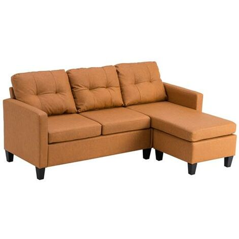Technology Cloth Combination Sofa Home Living Room Light Brown