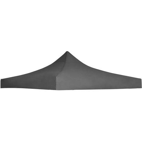 Techo de carpa para celebraciones 3x3 m gris antracita