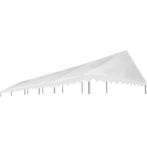 Techo de carpa para celebraciones 5x10 m blanco 450 g/m2