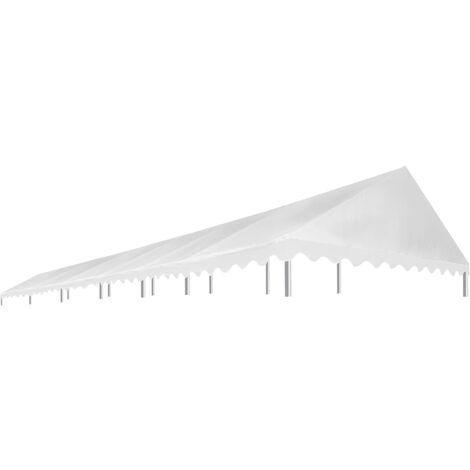 Techo de carpa para celebraciones 6x12 m blanco 450 g/m²