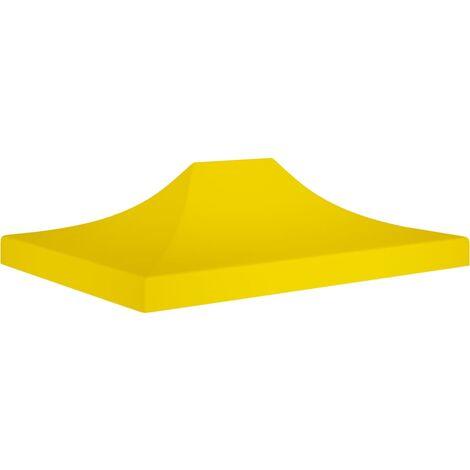 Techo de carpa para celebraciones amarillo 4x3 m 270 g/m² - Amarillo