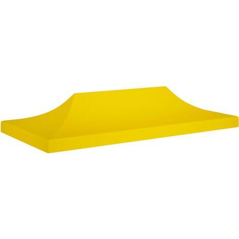 Techo de carpa para celebraciones amarillo 6x3 m 270 g/m² - Amarillo