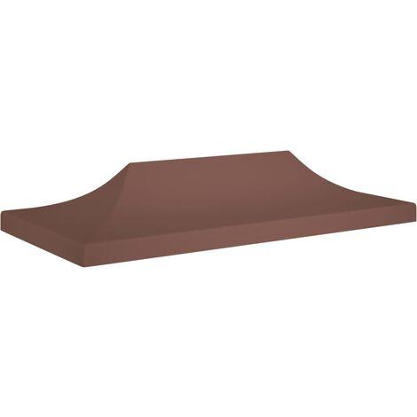 Techo de carpa para celebraciones marrón 6x3 m 270 g/m² - Marrón