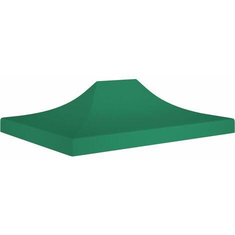Techo de carpa para celebraciones verde 4x3 m 270 g/m² - Verde