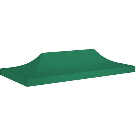 Techo de carpa para celebraciones verde 6x3 m 270 g/m2