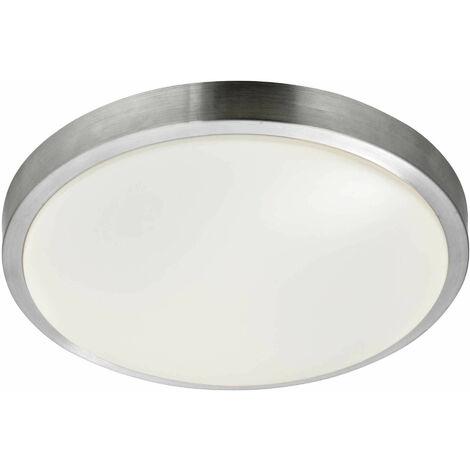 """main image of """"Searchlight Flush - Lámpara de techo LED para baño, 3 luces, aluminio, blanco IP44"""""""