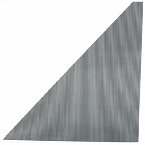Techo impermeable para pérgola 3x3,6m \'Pabellón Palaca\', Central Park - 77cm x 76,2cm x 0,6cm - Triángulo - Fácil montaje - Resistente a la intemperie - policarbonato - gris / transparente