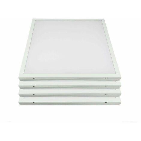 Techos 4x LED Un panel de rejilla de construcción Iluminación de la sala de estar Oficina Luces de luz natural Lámparas ALU blancas