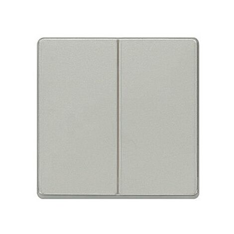 Tecla doble aluminio metalizado Siemens Delta Miro, 5TG6270-1AM00