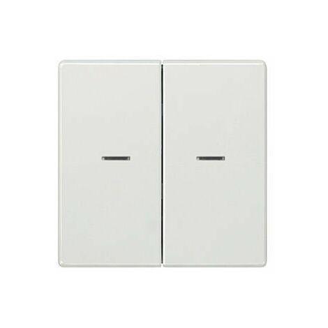 Tecla doble con difusor blanco polar Siemens Delta Style, 5TG7270-1WH01