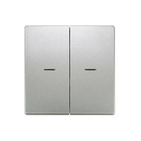 Tecla doble con difusor platino metalizado Siemens Delta Style, 5TG7270-1PM01