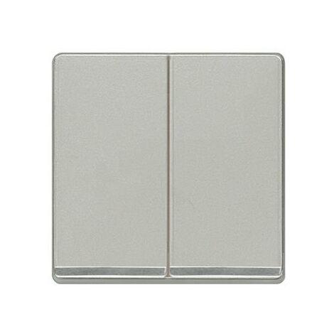 Tecla doble cromada aluminio metalizado Siemens Delta Miro, 5TG6270-1CA00