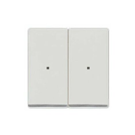 Tecla doble cromada con difusor blanco polar Siemens Delta Miro, 5TG6270-1CW01