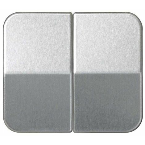 Tecla doble interruptor-conmutador aluminio Simon 75 7026-33