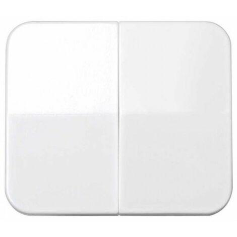 Tecla doble interruptor-conmutador blanco Simon 75 7026-30
