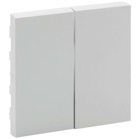 Tecla doble Legrand 864105 serie Niloe Step Blanco Mate