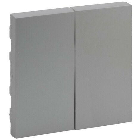 Tecla doble Legrand 864305 serie Niloe Step Aluminio