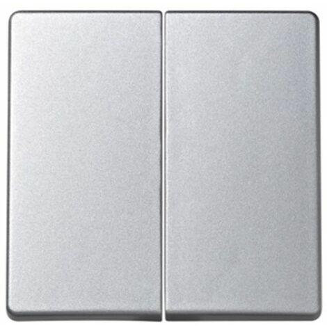 Tecla doble para interruptor-conmutador-cruzamiento aluminio Simon73 Loft 73026-63