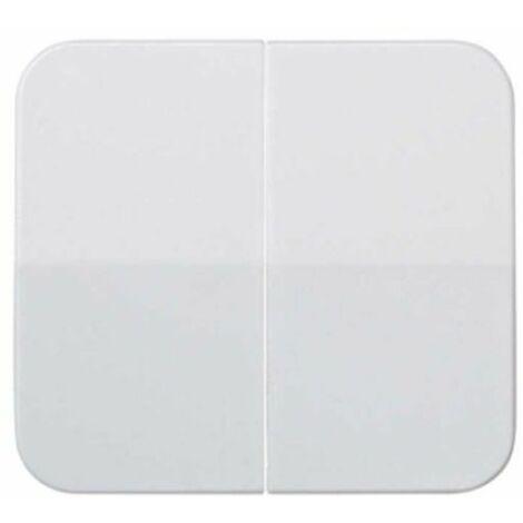 Tecla doble para mecanismos blanca Simon73 73026-30