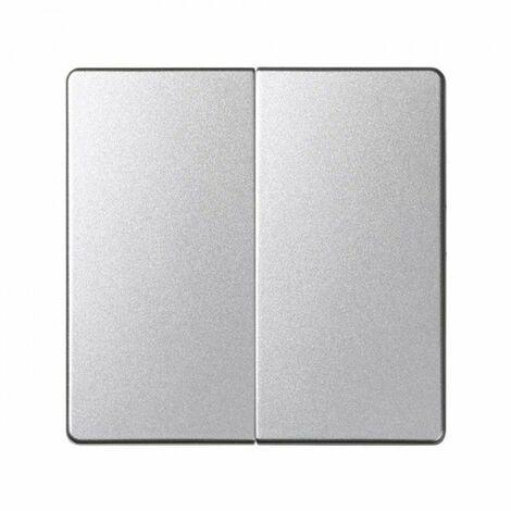 Tecla doble para mecanismos de mando aluminio frío SIMON 82 DETAIL 82026-93