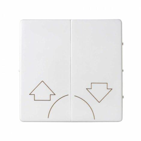 Tecla doble para mecanismos de persiana sin enclavamiento Simon 82 Concept 8200029-090 Blanco Mate