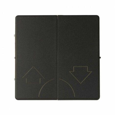 Tecla doble para mecanismos de persiana sin enclavamiento Simon 82 Concept 8200029-098 Negro