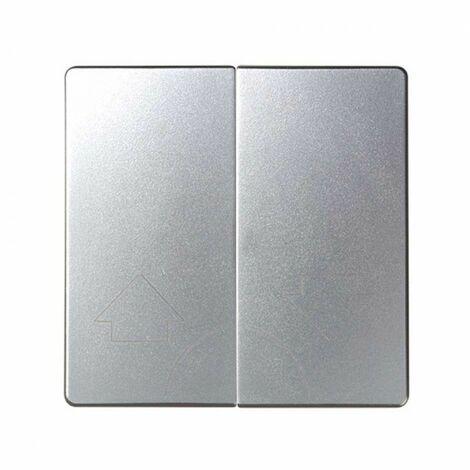 Tecla doble para mecanismos de persiana sin enclavamiento Simon 82 Detail y Simon 82 Concept 82029-93 Aluminio Frio