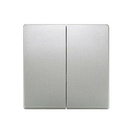 Tecla doble platino metalizado Siemens Delta Style, 5TG7270-1PM00