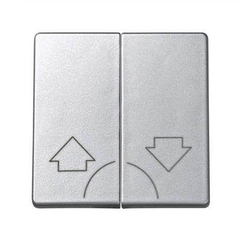 Tecla doble pulsador ALUMINIO Simon 73 Loft 73028-63