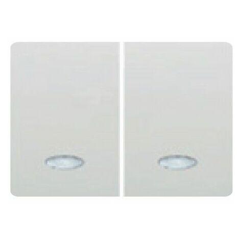 Tecla doble pulsador luminoso BLANCO BJC Coral 21709-L