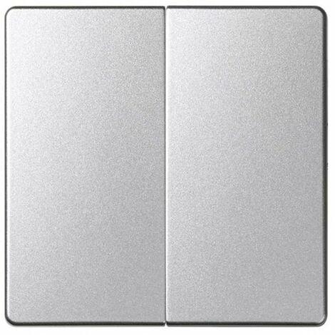 Tecla doble Simon 82 Detail y Simon 82 Concept 82026-93 Alumino Frio