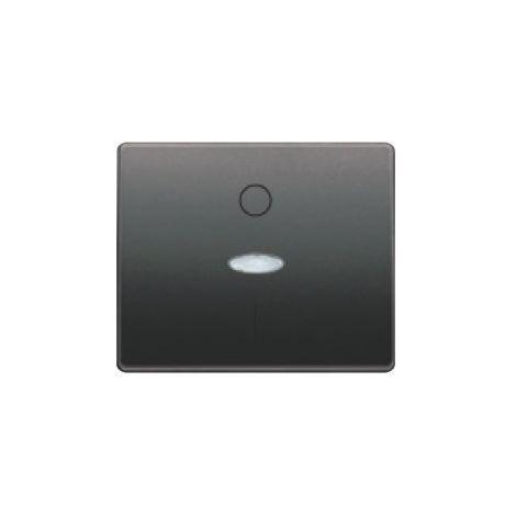 Tecla interruptor bipolar luminoso antracita cosso BJC Mega 22708-ACL