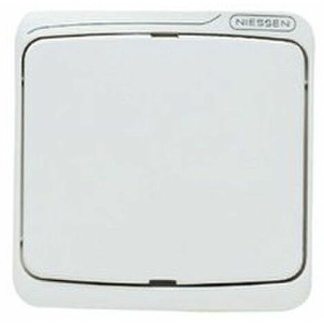 Tecla interruptor conmutador blanco Niessen Arco Estanco 8701BA