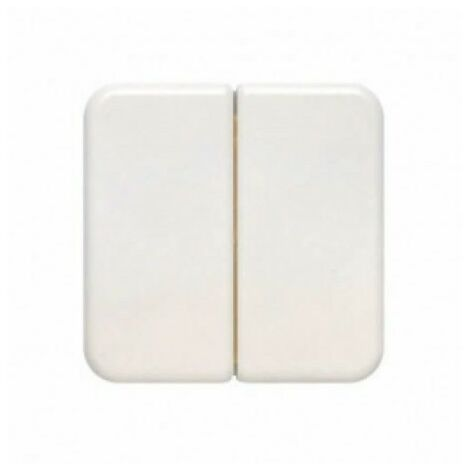 Tecla interruptor-conmutador doble blanco BJC Ibiza 10709-B