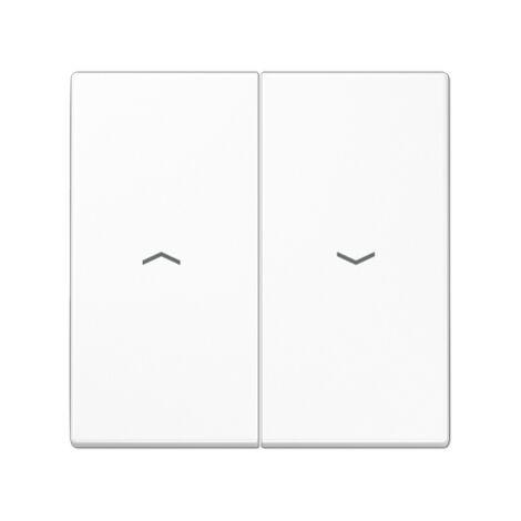 Tecla interruptor-pulsador persianas doble blanco Jung LS995PWW