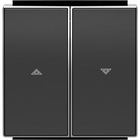 Tecla interruptor pulsador persianas doble Negro Soft Niessen Sky 8544 NS