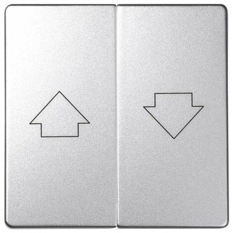 Tecla mecanismo persianas con enclav. aluminio frío SIMON 82 DETAIL 82028-93
