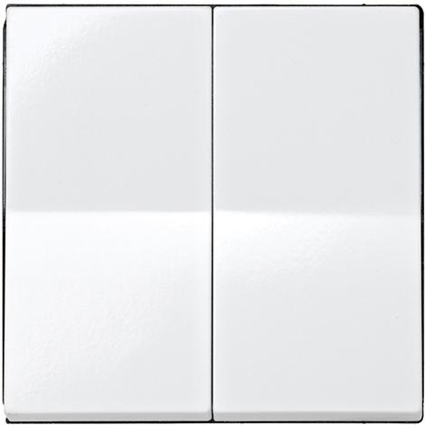 Tecla para grupo doble Serie 28 Blanco Nieve