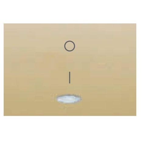 Tecla para interruptor bipolar luminoso DORADO PERLA BJC Coral 21708-DPL