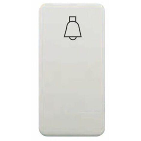 Tecla pulsador campana estrecho blanco BJC Sol Teide 16716