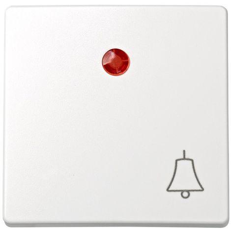 Tecla pulsador con visor grabado campana blanco SIMON 73 LOFT 73015-60