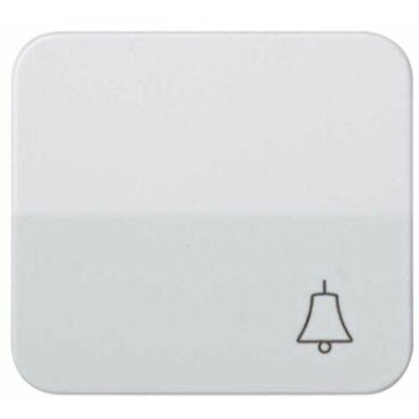 Tecla pulsador símbolo campana blanco Simon73 73017-30