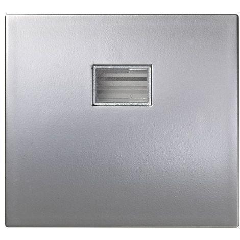 Tecla simple aluminio Simon 44 Aqua 4400010-033